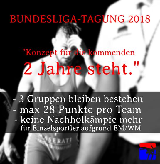 Bundesliga Ringen Tagung 2018 Ergebnis