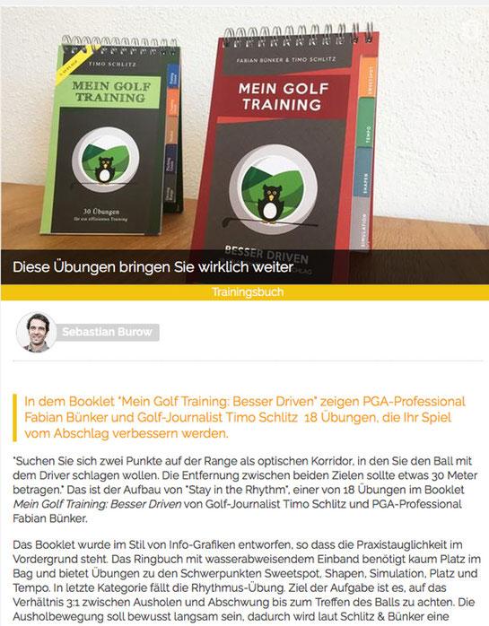 Golf.de empfiehlt Besser Driven von Timo Schlitz und Fabian Bünker