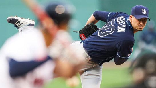 Charlie Morton è il pitcher in attività con più battitori colpiti (121) (Foto SI-Getty Images)
