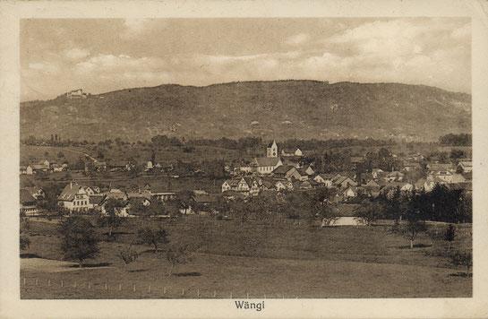 Ansicht von Wängi um 1920