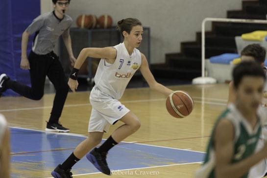 Tommaso Gaveglio in azione, per lui 14 punti - Roberta Cravero ph.