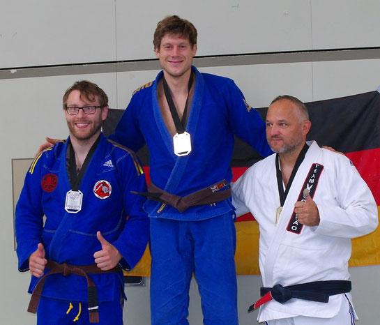 Michael Matzner: 1. Platz (Braun/Schwarz Gi +88,5kg) 1. Platz (Braun/Schwarz NoGi + 88,5kg)