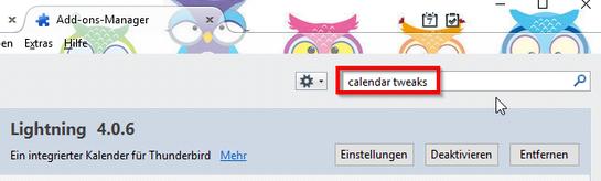 Thunderbird Calendar Tweaks