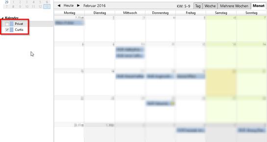 Kalender erfolgreich erstellt