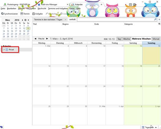 Privat Kalender