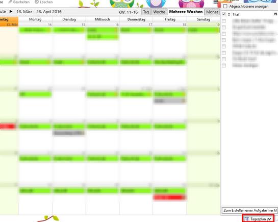 Aufgaben in Thunderbird-Kalenderansicht anzeigen