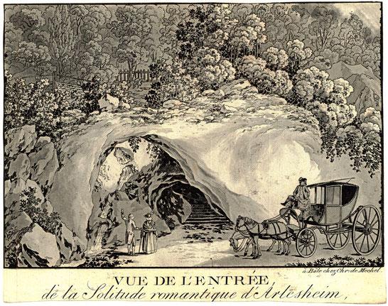 Vue de l'Entrée de la Solitude romantique près d'Arlesheim, Gmelin/Mechel 1789