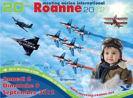 Photos Meeting international Roanne 2012  Aviation d'hier et de Demain  Rafale Solo Display Sea Fury BREITLING WINGWALKERS PATROUILLE TRANCHANT icar