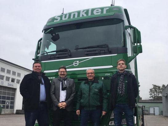 Auslieferungen neuer Volvo Trucks an die Sünkler Spedition