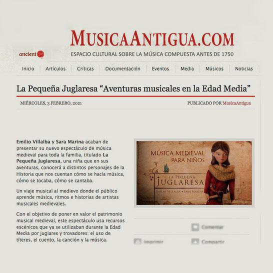 La Pequeña Juglaresa. Emilio Villalba y Sara Marina