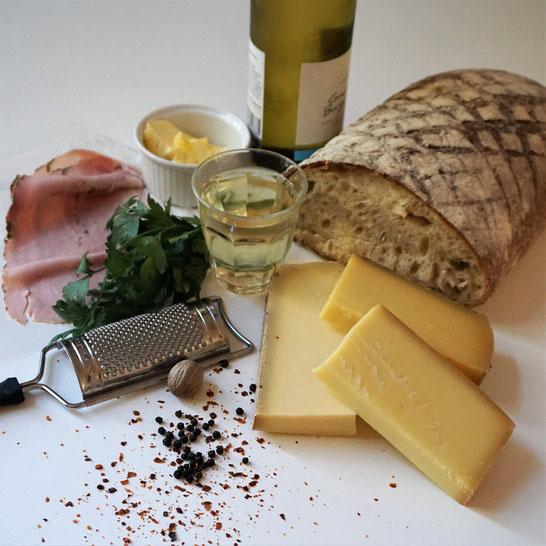 Käse-Wein-Brot. Die schnelle Luxusschnitte