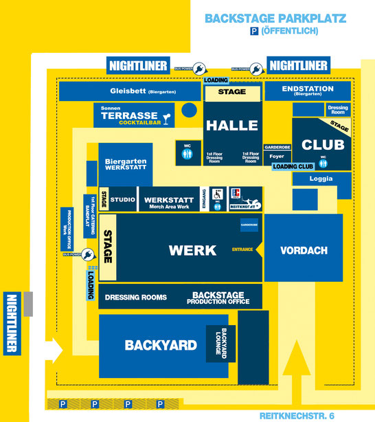 Geländeplan vom Backstage München | Quelle: Backstage München