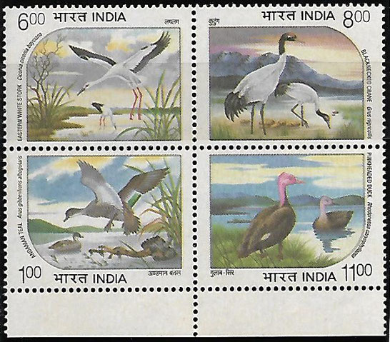 Water birds - Withdrawn stamps