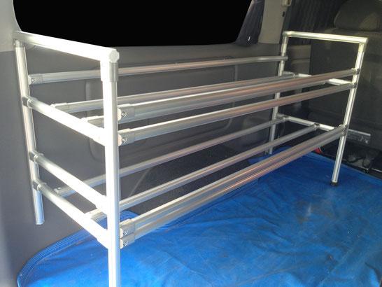 NV350キャラバン用の棚です。収納車内キャリアとして便利です。