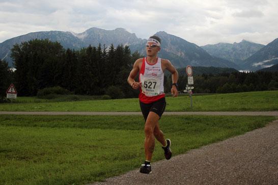 Steffen läuft auf den zweiten Gesamtrang beim Marathon in Füssen in 02:43:12 Stunden (Foto: Streil K.)