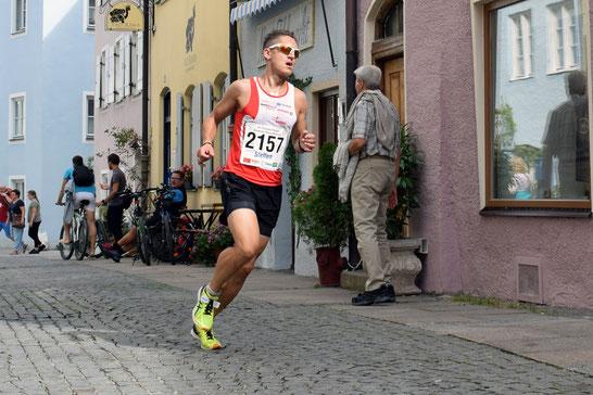 Steffen läuft beim Citylauf Füssen auf den dritten Gesamtrang in 35:53 Minuten (Foto: Veranstalter)