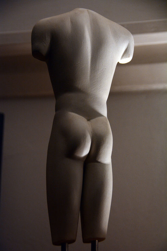 My wooden copy of the British Museum's Marion kouros from Polis in Cyprus.