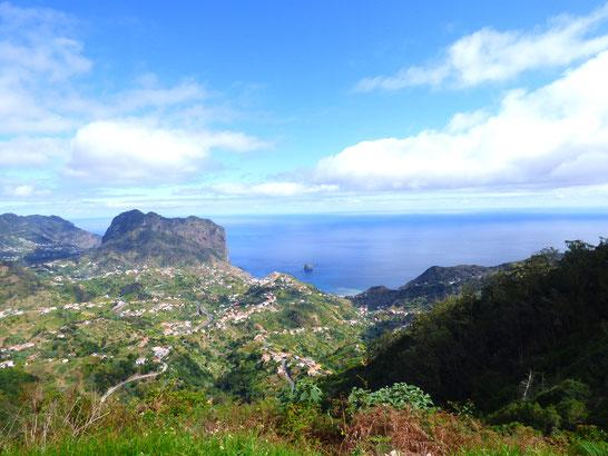 Madeira - Aussichtspunkt oberhalb von Porto da Cruz