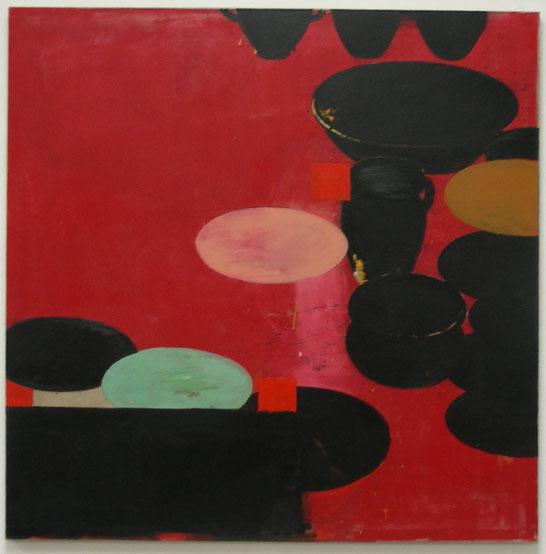 """""""Pathetisches Stilleben,20.02.2002"""", 2002, Öl auf Leinen, 160 x 160 cm, Privatsammlung Hannover"""