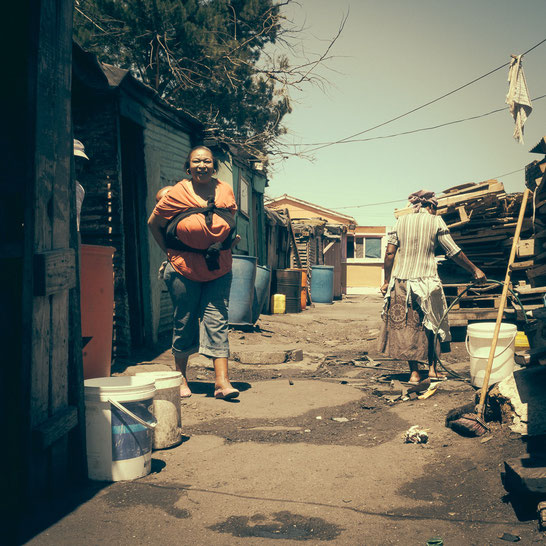 Typische Straßenszene - Township Langa Cape Town South Africa