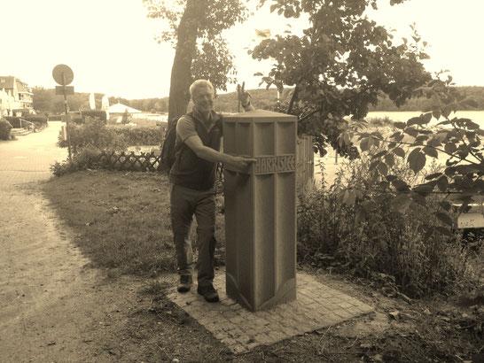 Harrislee - die Grenze zu Dänemark markiert meinen nördlichsten Punkt
