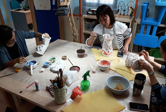 Clase cerámica japonesa