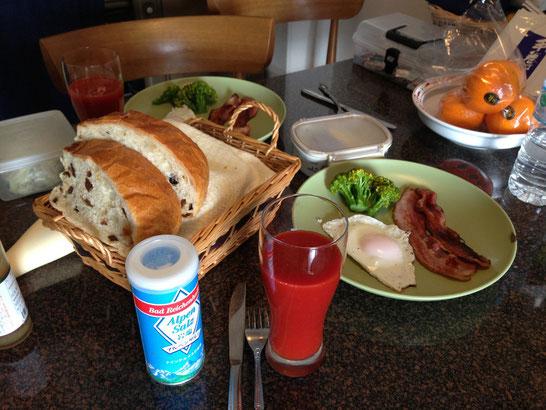 朝食もお洒落です。