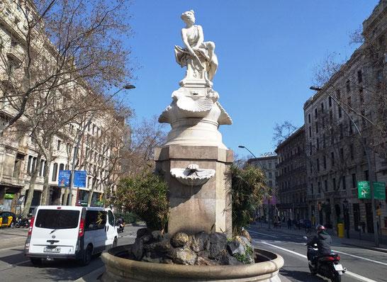Фонтан Дианы-охотницы в Барселоне