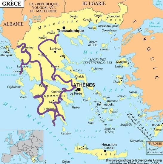 bigousteppes carte grèce roadtrip balkans tour