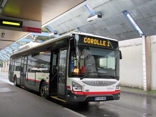 C'est sur quelques bus de la ligne Corolle que des tests d'écrans sont effectués