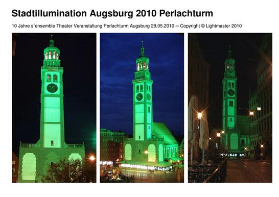 Dokumentation Stadtillumination Stadt Augsburg 28.05.2010 - 10 Jahre s'ensemble Theater - Wolfgang F. Lightmaster