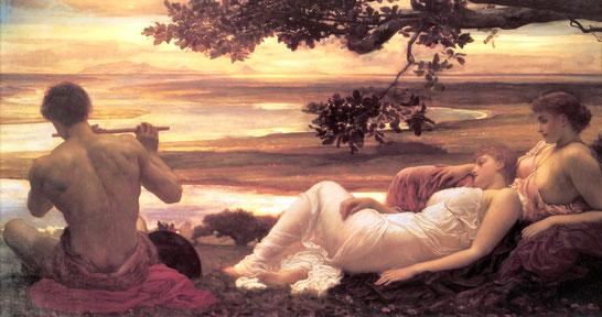 "Sir Friedric Leighton: ""Idyll""- 104x212cm, 1880, oil on canvas."