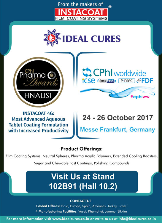 instacoat 4g by Ideal cures cphi award 2017