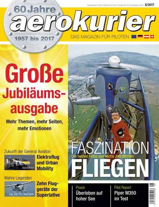 Das Thema Zukunft stand in der Jubiläums-Ausgabe des aerokurier im Mittelpunkt.