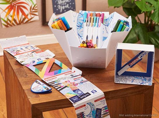 Die Edding Colour Happy Box lässt keine Wünsche offen! Ideal für Handlettering, zum Zeichnen und Malen