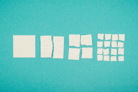 仕事を分けて分解・分類して取り組むイメージ
