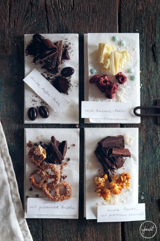 Variationen für Selbstgemachte Schokoladentafeln
