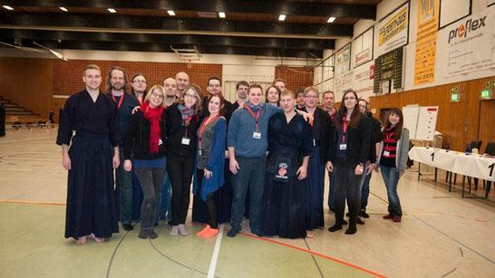 Helfer, Kämpfer und Organisatoren der Hessenmeisterschaft am 08.02.2015 in Fulda