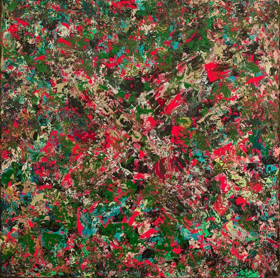 "Titel: ""CAMOUFLAGE CANDY"" (2016),  60 cm x 60 cm"