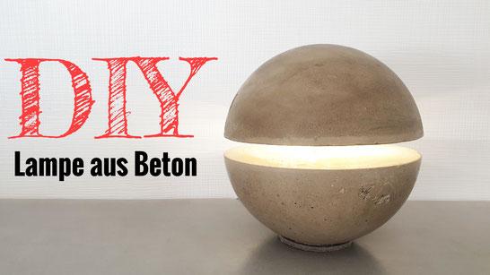 Eine Lampe aus Beton bauen
