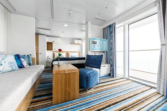 Mein Schiff 4 Familienkabine Balkon