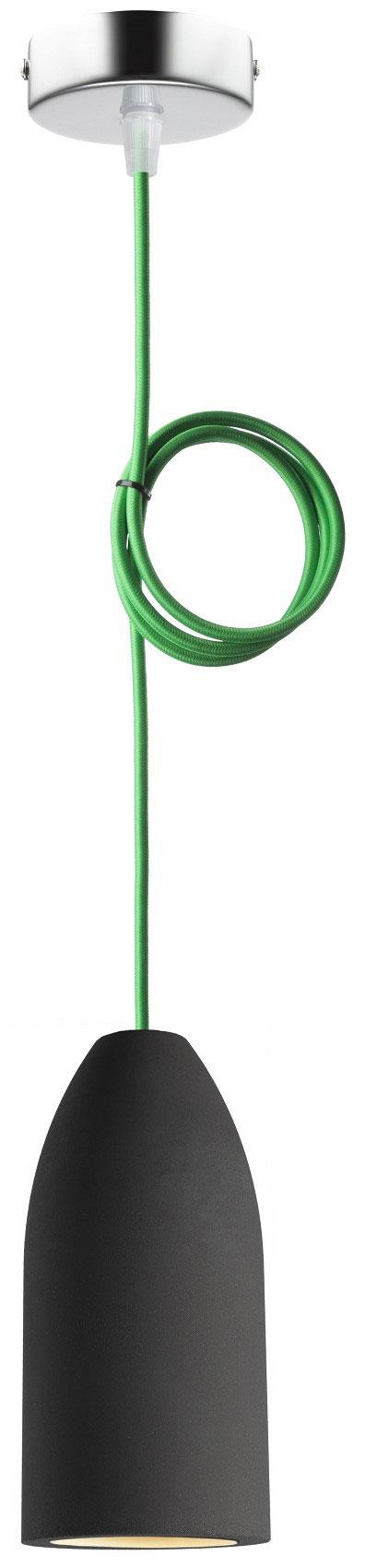 """Betonlampe mit Textilkabel """"Grün"""""""