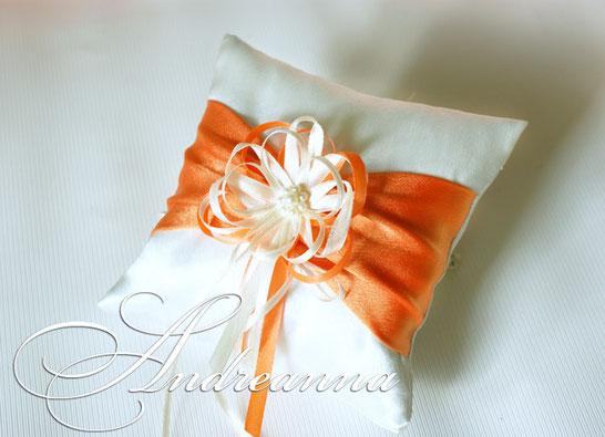 подушечка для колец Оскар оранж (выполняется в любом цвете) 350 грн