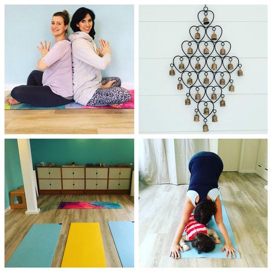 Om! Yogaraum im Hoftel Föhr beim Mama-Baby-Yoga-Retreat vom Mama Yoga Blog MOMazing.
