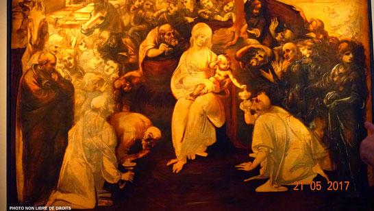 L'Adoration des Mages, Léonarde de Vinci, Florence