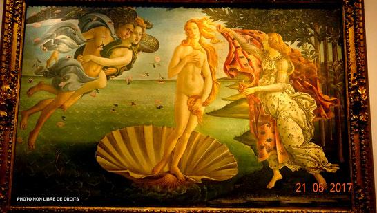 La Naissance de Vénus, Galleria degli Uffizi, Florence