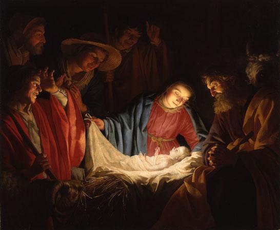 """Gherardo delle Notti, """"Adorazione dei pastori"""" (1622)"""