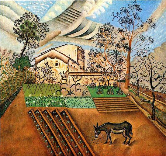"""J. Miro, """"L'orto con asino"""" (1918)"""