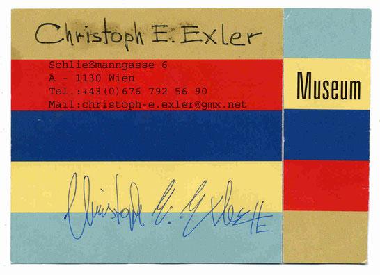 Visitenkarte Christoph E. Exler