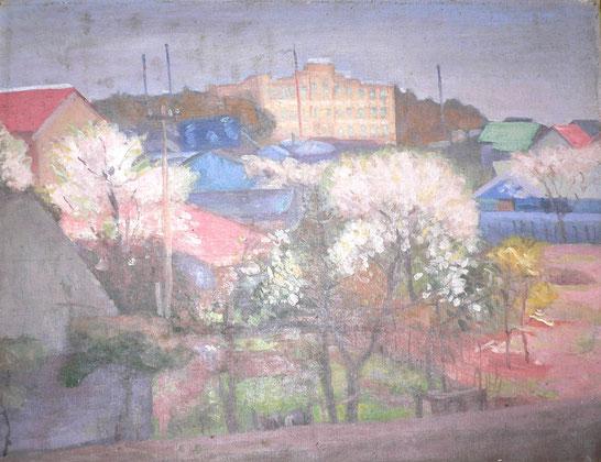 友吉が亡くなる二年前に描いた「春」 春陽会第七回展に入選する。